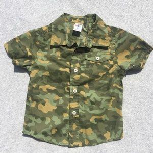 Camo Button Down Shirt